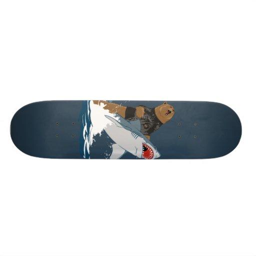 The Great Escape - bear shark cavalry Skateboard Decks