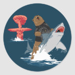The Great Escape - bear shark cavalry Round Sticker