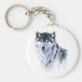 The great fierce wolf in all glory key ring