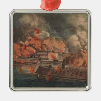 The Great Fight At Charleston 1863 Civil War Christmas Tree Ornaments