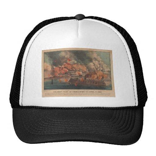 The Great Fight At Charleston 1863 Civil War Hat