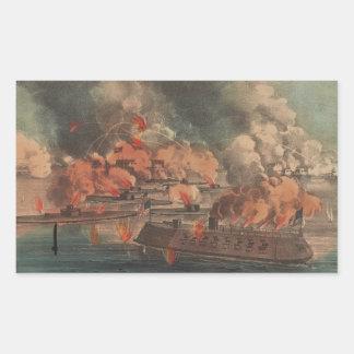 The Great Fight At Charleston 1863 Civil War Rectangular Sticker