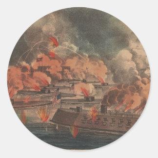 The Great Fight At Charleston 1863 Civil War Sticker
