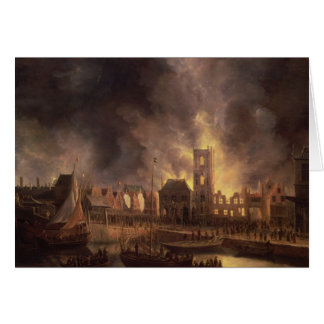 The Great Fire in the Old Town Hall, Amsterdam Card