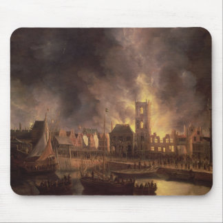 The Great Fire in the Old Town Hall, Amsterdam Mouse Mat