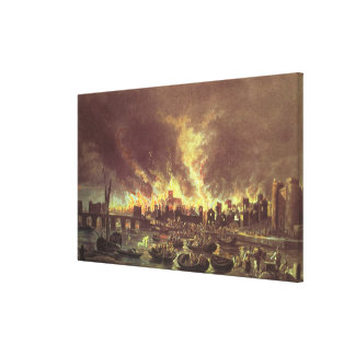 The Great Fire of London, 1666 Canvas Print