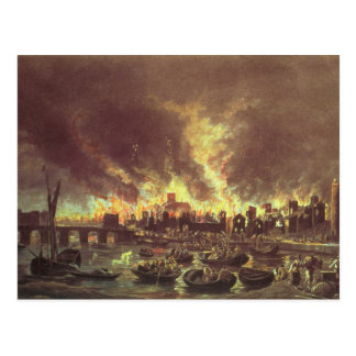 The Great Fire of London, 1666 Postcard