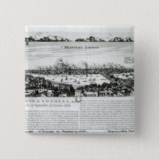 The Great Fire of London in 1666 15 Cm Square Badge