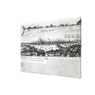 The Great Fire of London in 1666 Stretched Canvas Prints