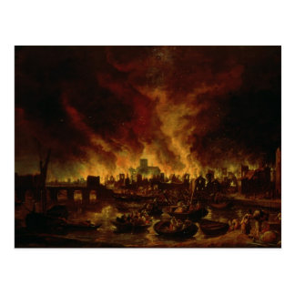 The Great Fire of London in 1666 Postcard