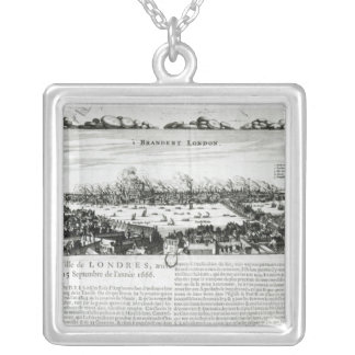 The Great Fire of London in 1666 Silver Plated Necklace