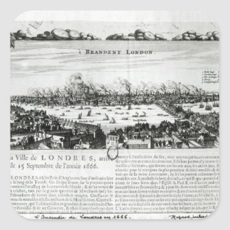 The Great Fire of London in 1666 Square Sticker