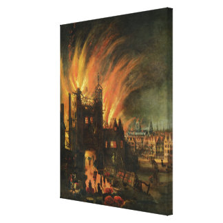 The Great Fire of London (September 1666) with Lud Canvas Print