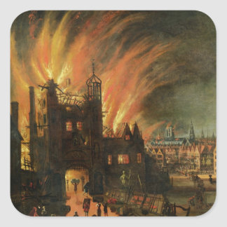 The Great Fire of London (September 1666) with Lud Square Sticker