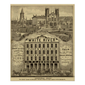 The great flour and grocery house poster
