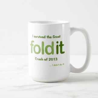 The Great Foldit Crash of 2013 Classic White Coffee Mug