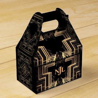 The Great Gatsby Design With A Monogram Favour Boxes