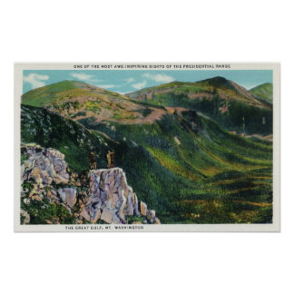 The Great Gulf of the Presidential Range View Poster