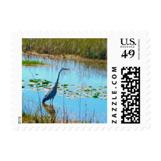 The Great Heron - Postage Stamps