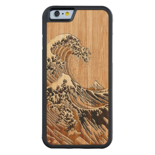 The Great Hokusai Wave Bamboo Wood Style Maple
