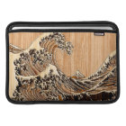 The Great Hokusai Wave Bamboo Wood Style Sleeve For MacBook Air