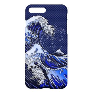 The Great Hokusai Wave chrome carbon fiber styles iPhone 8 Plus/7 Plus Case