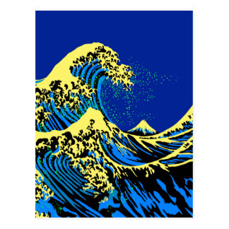 The Great Hokusai Wave in Pop Art Style Postcard