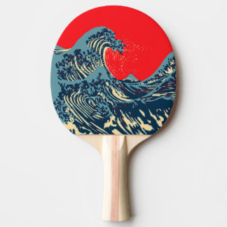 The Great Hokusai Wave Pop Decor Ping Pong Paddle