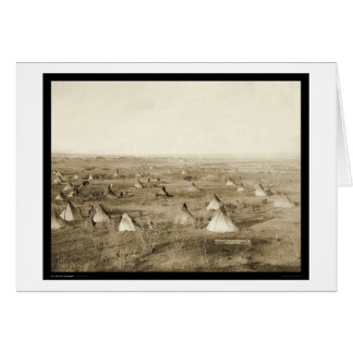 The Great Hostile Lakota Camp SD 1891 Greeting Card