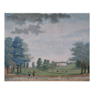 The Great House and Park at Chawton, c.1780 Print