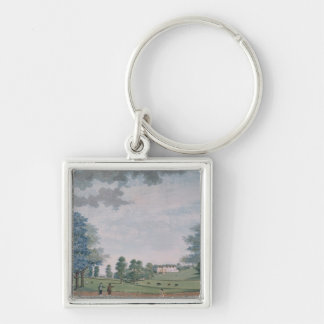 The Great House and Park at Chawton, c.1780 Silver-Colored Square Key Ring