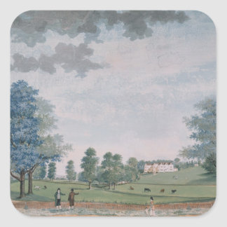 The Great House and Park at Chawton, c.1780 Square Sticker