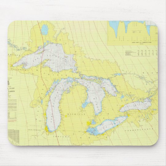The Great Lakes Chart Mouse Mat