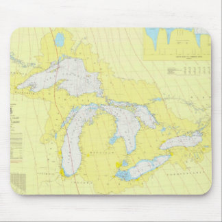 The Great Lakes Chart Mouse Pad