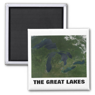 The Great Lakes Square Magnet
