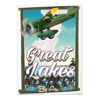 The Great Lakes plane travel poster Photographic Print