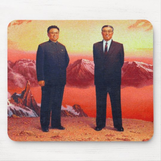 The Great Leader and Dear Leader Mouse Mat