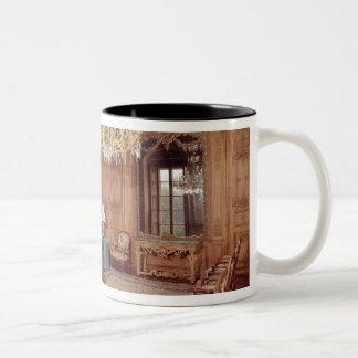 The Great Lounge with woodwork Two-Tone Coffee Mug