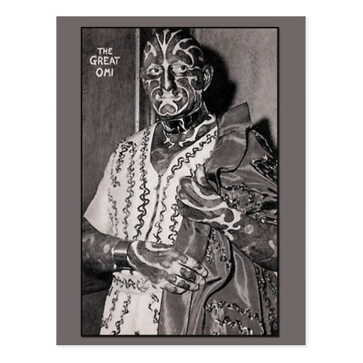 The Great Omi Circus Performer Cards Postcard