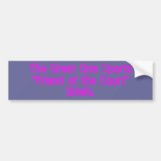 The Great One Sports Ultimate Court Fight Briefs Bumper Sticker
