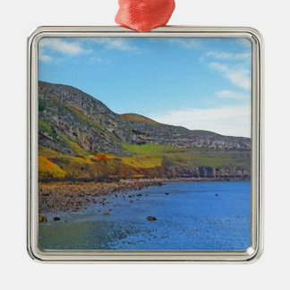 The Great Orme. Silver-Colored Square Decoration