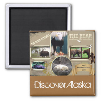 The Great Outdoors in Alaska Square Magnet