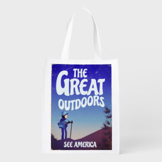 The Great Outdoors. Reusable Grocery Bag