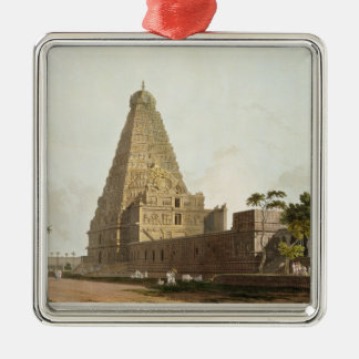 The Great Pagoda, Tanjore, plate XXIV from 'Orient Silver-Colored Square Decoration