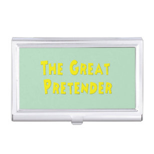 1950s business card holders cases zazzle the great pretender solid gold 1950s song titles business card holder reheart Image collections