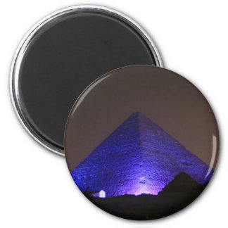 The Great Pyramid 6 Cm Round Magnet