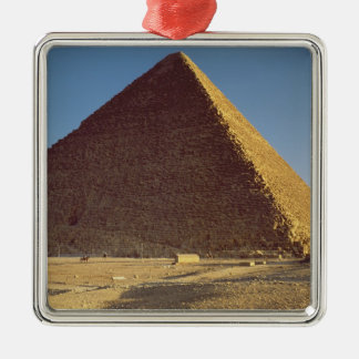 The Great Pyramid of Khufu  Old Kingdom Silver-Colored Square Decoration