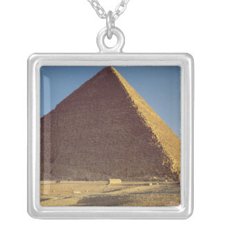 The Great Pyramid of Khufu  Old Kingdom Silver Plated Necklace