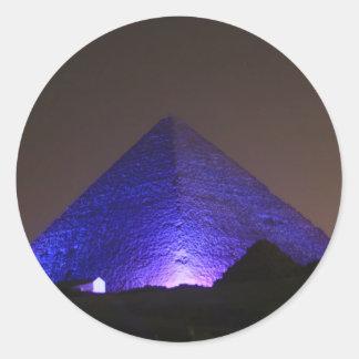 The Great Pyramid Round Sticker