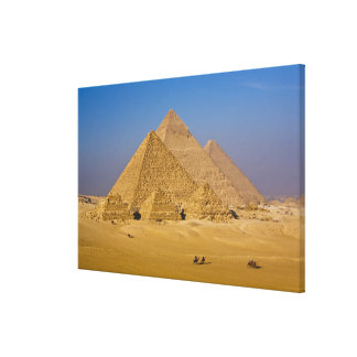 The Great Pyramids of Giza, Egypt Canvas Print